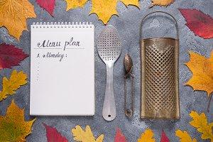 Kitchen tools in autumn