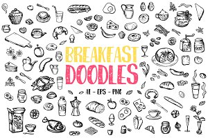Breakfast Vector Doodles