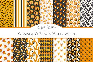 Orange and Black Halloween Patterns