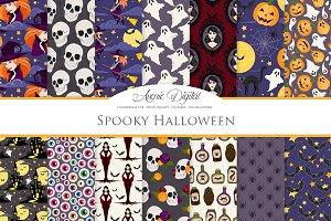 Spooky Halloween Digital Paper