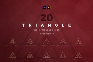 20 Triangle Logos - Outline edition