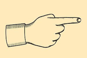Pointing finger illustration