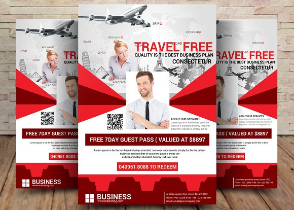 Travel Agency Flyer-Graphicriver中文最全的素材分享平台