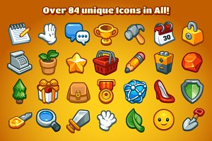 Casual Game Basic Icons Set