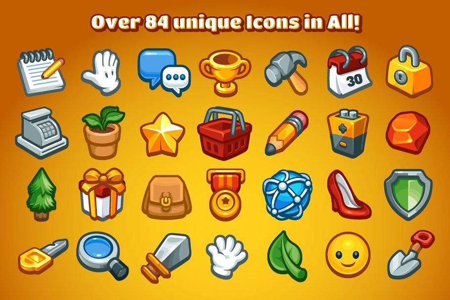 Casual Game Basic Icons Set ~ Icons ~ Creative Market