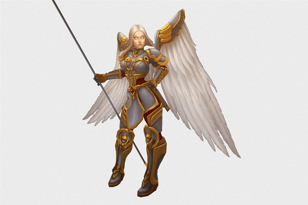 3D Fantasy: Bitgem - Low Poly Angel Female