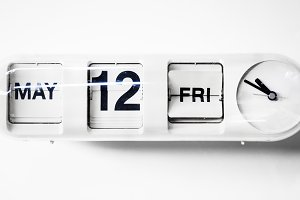 Clock with date calendar