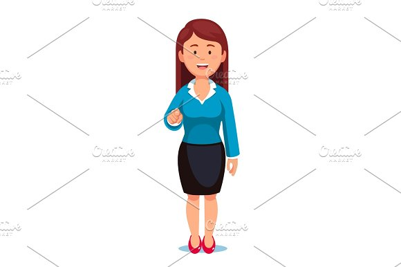 Businesswoman Pointing With Index Finger At Viewer