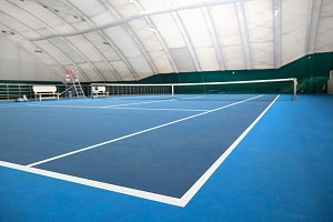 The abstract indoor tennis court