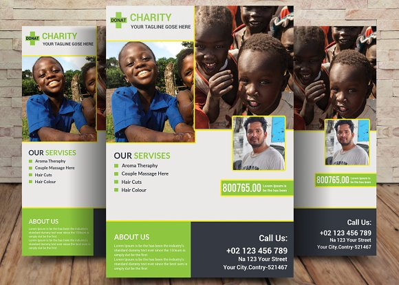 Charity Fundraisers Flyer-Graphicriver中文最全的素材分享平台