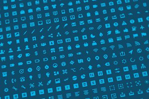 500 Solid Icons + Font (Flaticons)