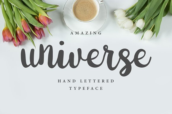 Universe Brush Font Script Fonts Creative Market