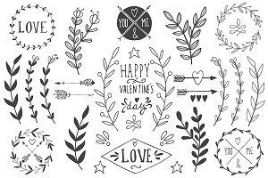 St. Valentine's day vector pack