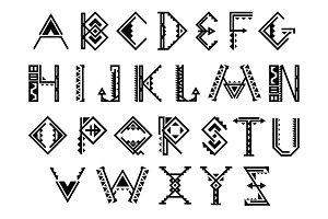 Native american indian alphabet