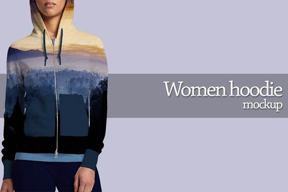 Women hoodie mockup-Graphicriver中文最全的素材分享平台