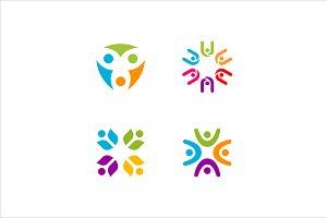 4 logos people