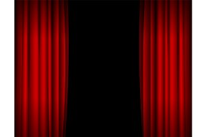 Red Stage Curtains Background