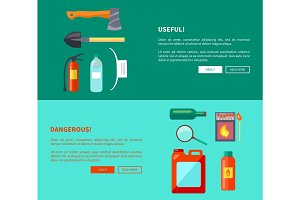 Useful and Dangerous Fire-Related Objects Posters