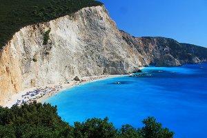 Crowded Beautiful Beach in Greece
