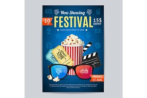 Cinema Movie Festival Poster Card