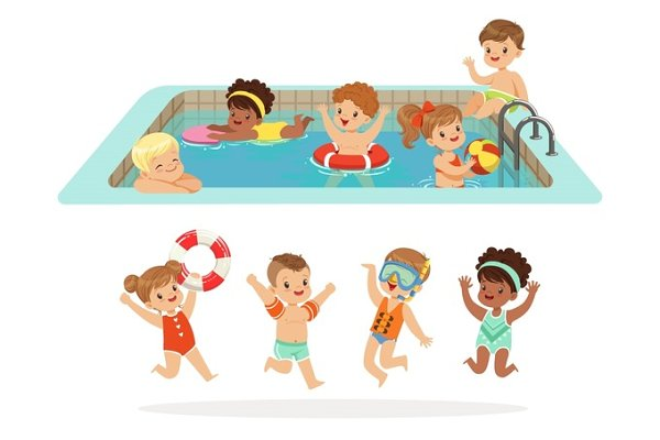 Small Children Having Fun In Water…