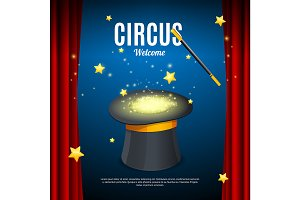 Welcome to Circus Poster Card
