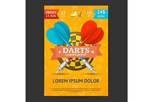Darts Tournament Poster Card