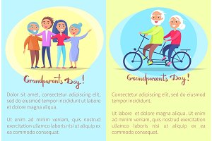 Happy Grandparents Day Senior Couples and Bike