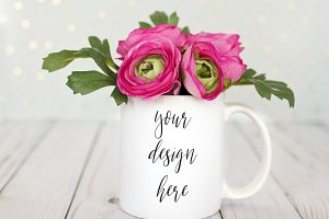 Mug Mockup - Styled Stock Photograph