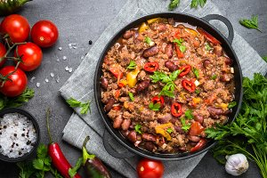 Chili con carne. Traditional mexican food.