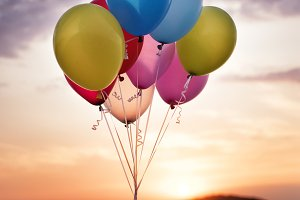 Colorful Birthday Party Balloons