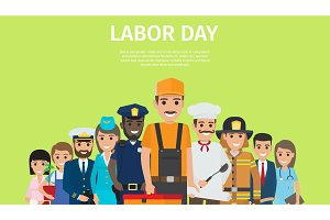 International Labor Day Bright Promotion Poster