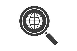 Network search glyph icon