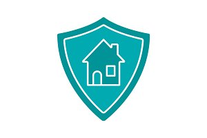 Real estate security glyph color icon