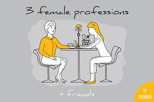 3 female professions