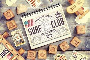 Retro Grunge Surfing Poster