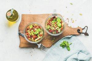 Healthy vegan salad with quionoa
