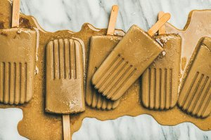 Coffee latte popsicles