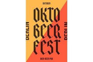Poster for Oktoberfest festival