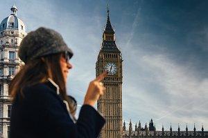 Woman near Big Ben
