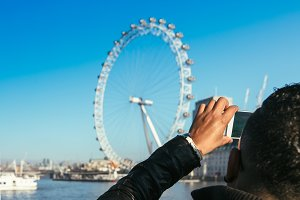 Taking picture of the London Eye