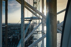Sunset from the London Eye Wheel