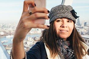 Selfie in London Eye