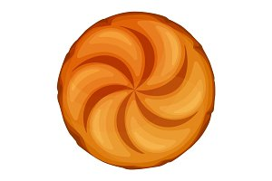 Bread roll round loaf served as a meal accompaniment vector