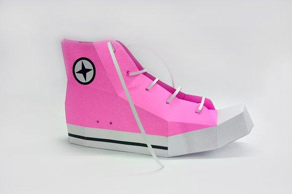 DIY Converse Shoe - 3d papercrafts ~ Templates ~ Creative Market