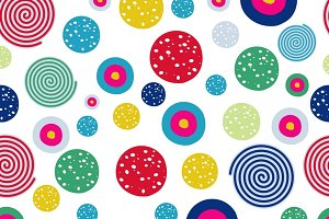 Polka dots kids seamless pattern