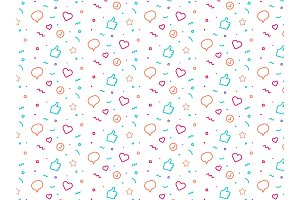 fun party style seamless pattern.
