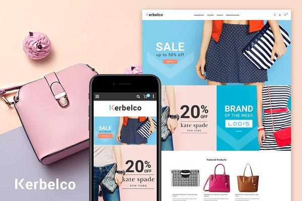 Magento Themes: Zemez - Kerbelco - Handbags Magento 2 Theme