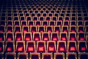 Empty Red Theater Seats