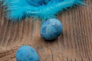 Easter blue eggs